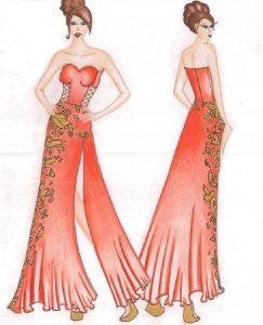 femmes-en-robe-rouge-et-dore-2