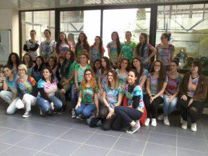 Les élèves italiens et français au lycée Marie Laurencin