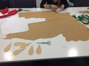 Préparation des costumes Aztèques