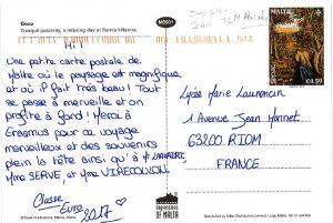 Carte postale de l'île de Gozo